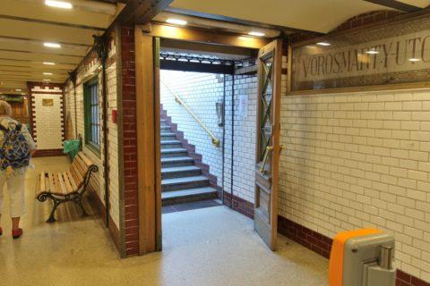 ブダペストメトロ1号線駅入口