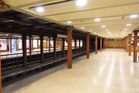 ブダペスト地下鉄1号線のプラットホーム