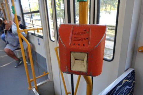 budapest-transport/トラムの改札機