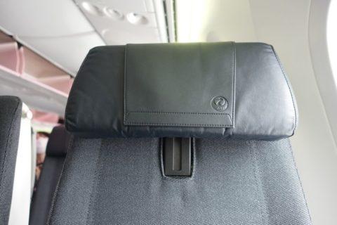 JAL国内線B787/ヘッドレストの可変