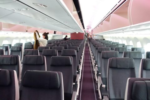 JAL国内線B787/キャビン