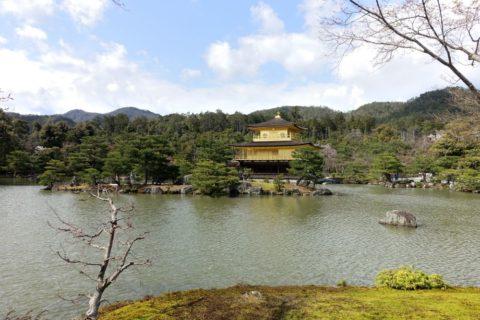 金閣寺/池から望む