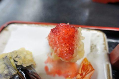 更科/いちごの天ぷら