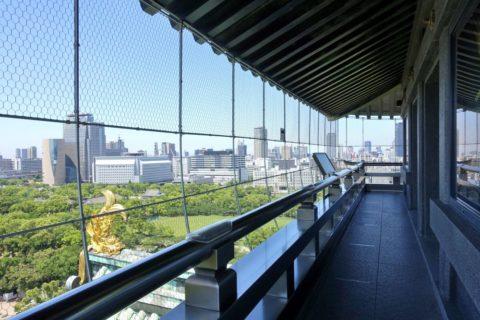 大阪城の展望台