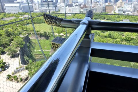 大阪城の手すり