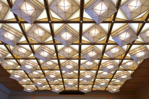 京都迎賓館/折り紙天井