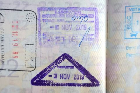 タイの出入国スタンプ