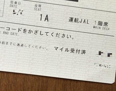 JAL成田→伊丹ファーストクラスシート (14)