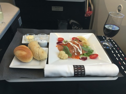 JALビジネスクラス機内食 (2)