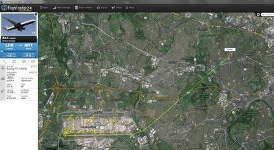ドライトンコートホテル ヒースロー空港の離陸航路2