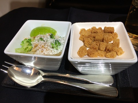JALビジネスクラス機内食パリ成田 (2)