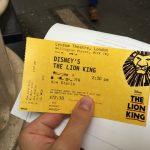 ロンドンで「ライオンキング」を鑑賞!子供連れでも安心のLYCEUM THEATRE