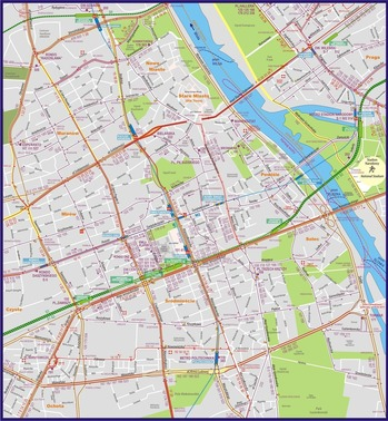 ワルシャワ 路線図 2015