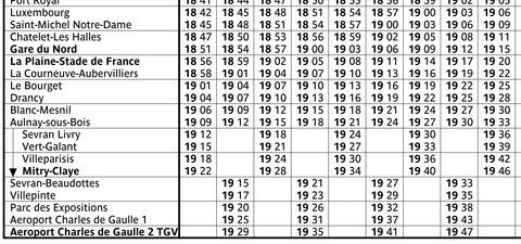 B線時刻表