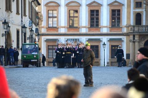 プラハ城「衛兵の交代式」 (6)