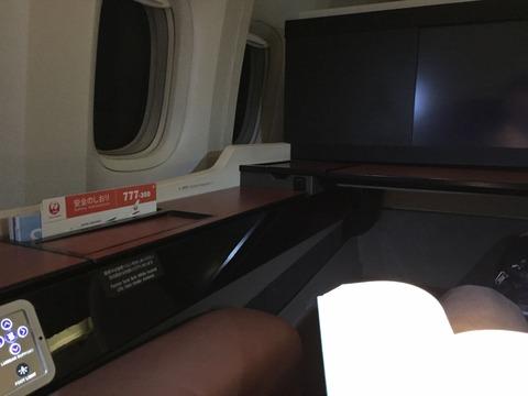 JAL成田→伊丹ファーストクラスシート (9)