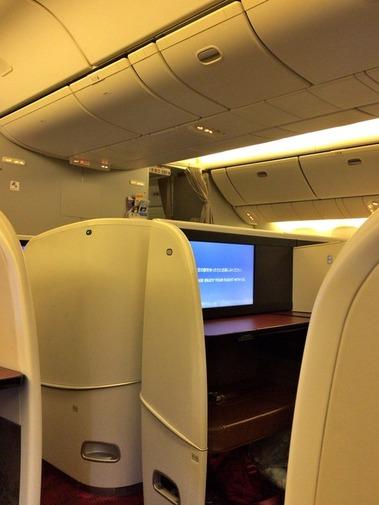 JAL成田→伊丹ファーストクラスシート (6)