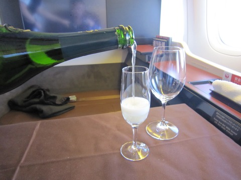 JALファーストクラス機内食 (1)